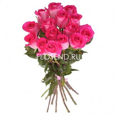 15 Розовых роз